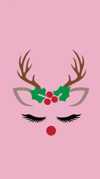 Обои на телефон девчачие, розовые, рождество, прекрасные, праздник, нос, милые, красые, rudolph, red nose, holly, girly rudolph