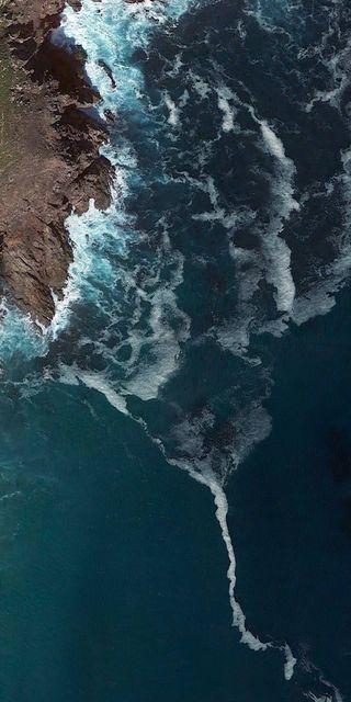 Обои на телефон падает, ми, океан, mi a2