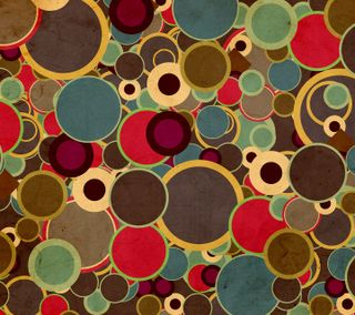 Обои на телефон круги, шаблон, красочные, абстрактные