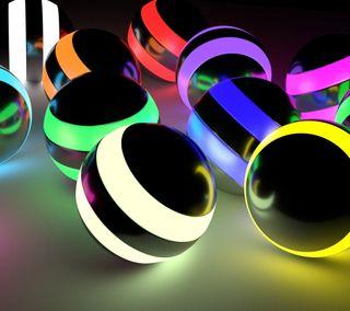 Обои на телефон круги, цветные, сфера, классные, cupus