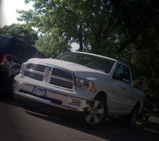 Обои на телефон рам, грузовик, додж, белые, hemi, dodge, 1500