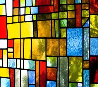 Обои на телефон мозаика, стекло, окрашенный, окно, красочные