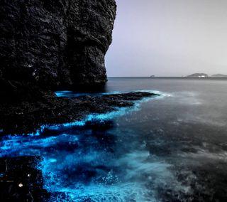 Обои на телефон глубокие, синие, сверкающие, пляж, море