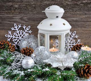 Обои на телефон счастливое, снег, рождество, лампа