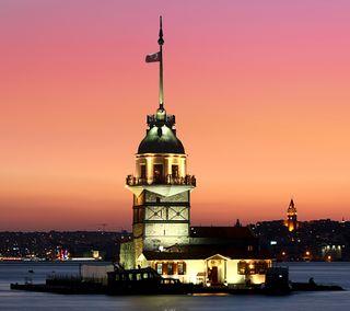 Обои на телефон стамбул, османский, kiz kulesi