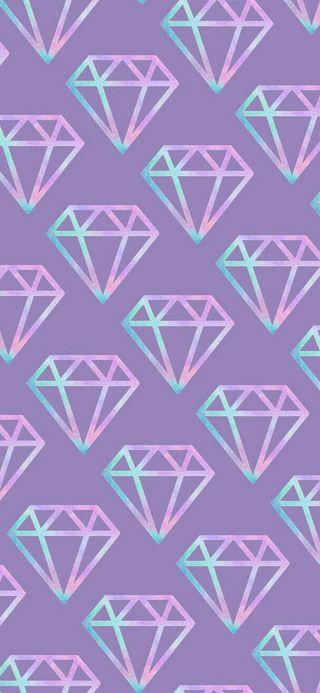 Обои на телефон пастельные, шаблон, бриллианты, бриллиант, holographic