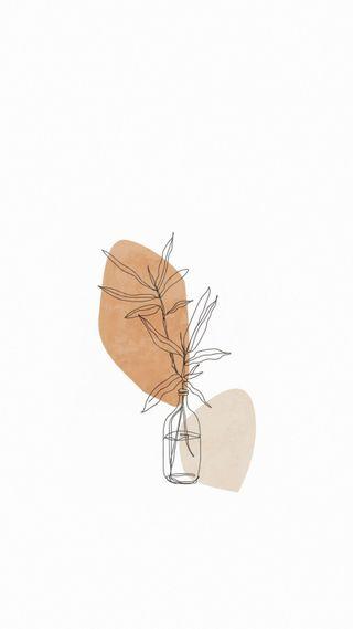 Обои на телефон иллюстрации, эстетические, цветы, рисунки, растения, простые, минималистичные, минимализм, белые, beige