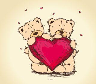 Обои на телефон специальные, ты, тедди, романтика, подарки, медведь, любовь, день, валентинка, valentine special, love, i love you