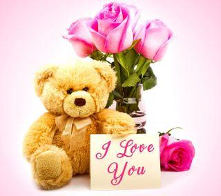 Обои на телефон подарок, ты, тедди, розы, медведь, любовь, игрушки, день, i love you