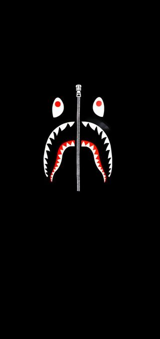 Обои на телефон бейп, экран, темные, акула, streetwear, bapeshark