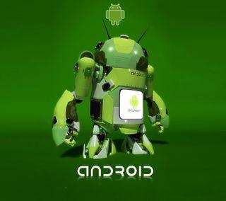 Обои на телефон логотипы, зеленые, андроид, android upgraded, android