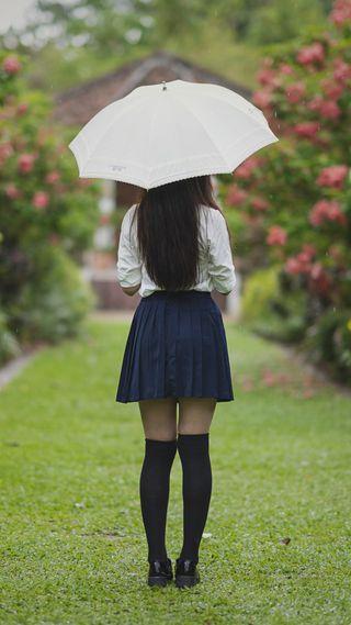 Обои на телефон настроение, одиночество, люди, девушки, брюнетка, амбрелла, girl with umbrella, 1080p