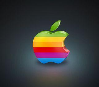 Обои на телефон эпл, черные, цветные, радуга, приятные, крутые, mac, apple