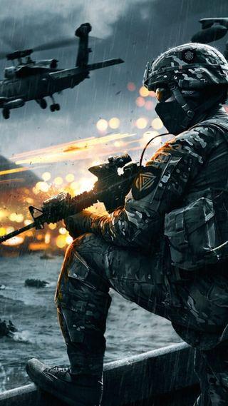 Обои на телефон стрелок, солдат, оружие, игра, battlefield