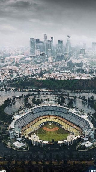 Обои на телефон стадион, бейсбол, парк, dodgers