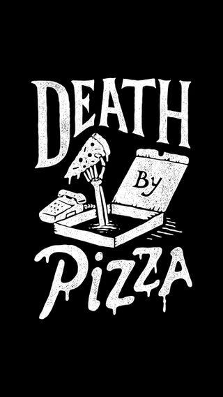 Обои на телефон пицца, черные, стили, смерть, мертвый, иран, еда, death by pizza