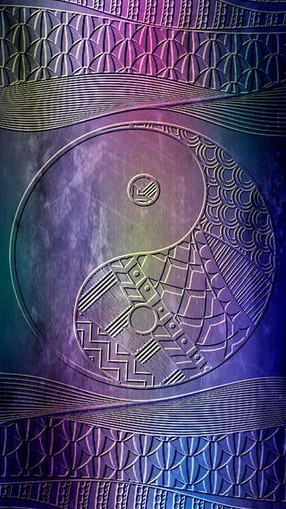 Обои на телефон янь, будда, красочные, инь, дзен, бохо, абстрактные, zentangle yin yang, zentangle, hippy