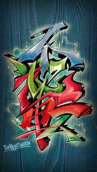 Обои на телефон граффити, японские, улица, типография, kanji, futaiten