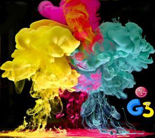 Обои на телефон цветные, последние, новый, логотипы, крутые, красочные, дым, абстрактные, lg g3 colors, lg, hd, g3, 2014