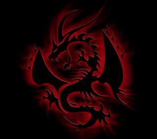 Обои на телефон змея, эмблемы, черные, рептилия, огонь, красые, змеевидный, дрейк, дракон, dragon, black dragon emblem