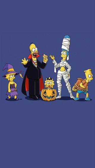 Обои на телефон гомер, хэллоуин, симпсоны, монстры, барт, marge
