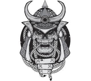 Обои на телефон самурай, череп, дизайн, арт, japn, art