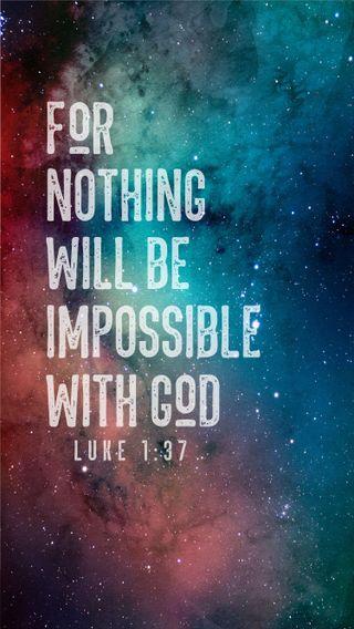 Обои на телефон вера, цитата, рождество, мотивация, высказывания, верить, бог, библия, luke 1 37, christianity