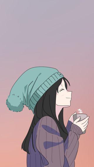 Обои на телефон чай, японские, чашка, прекрасные, мультфильмы, милые, девушки, восхитительные, арт, аниме, анимационные, cup, art, anime girl - tea cup
