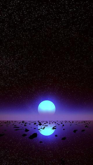 Обои на телефон фиолетовые, природа, ночь, красота, звезды, закат