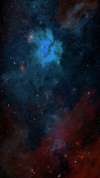 Обои на телефон туманность, небо, звезды, галактика, galaxy, archangel