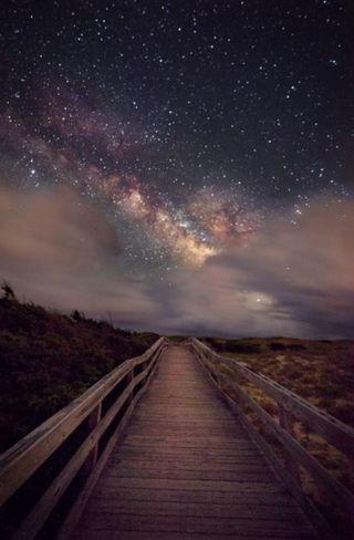 Обои на телефон прогулка, свет, пляж, ночь, звезды, звезда, star light walk