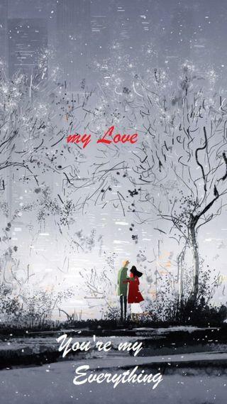 Обои на телефон рисунки, мой, милые, любовь, любовники, my everything, love