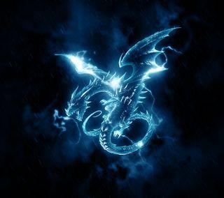 Обои на телефон огни, дым, дракон, dragon