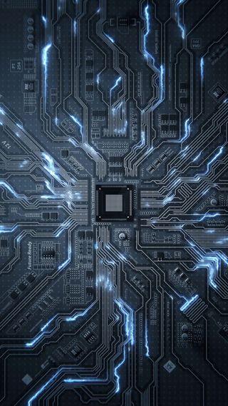 Обои на телефон chip, processor, transistors, технологии, светящиеся, микросхема, колея