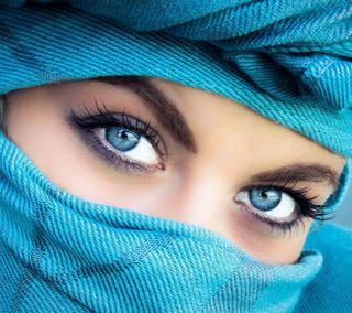 Обои на телефон лицо, синие, прекрасные, милые, девушки, глаза, арабские