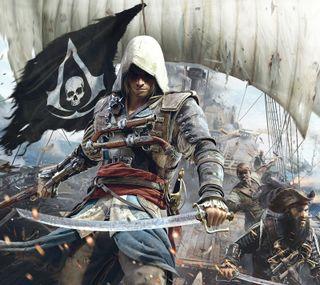 Обои на телефон пираты, черные, флаг, крид, ассасин, assassins creed iv, assassins creed 4