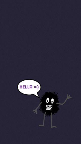 Обои на телефон привет, monster, hello