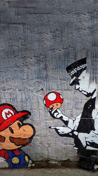Обои на телефон марио, грибы, братья, seta, policia, policeman, 1up