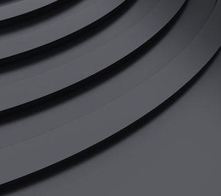 Обои на телефон металлические, черные, формы, дизайн, абстрактные, black metallic shape, black metallic