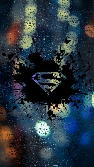 Обои на телефон размытые, черные, цветные, супермен, логотипы, капли