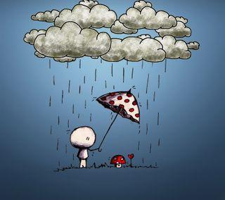 Обои на телефон амбрелла, приятные, милые, дождь, protector