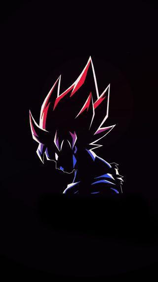 Обои на телефон синие, мяч, красые, дракон, гоку, dragon ball red-blue, dragon