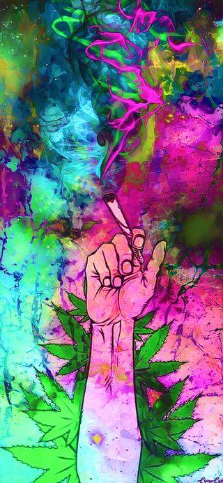 Обои на телефон странные, сигареты, марихуана, stoner, maryjane, 420