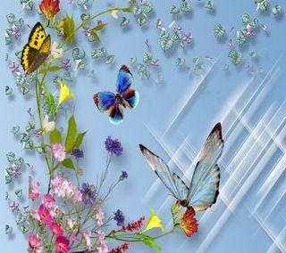 Обои на телефон взгляд, цветы, приятные, бабочки, flowers butterflies