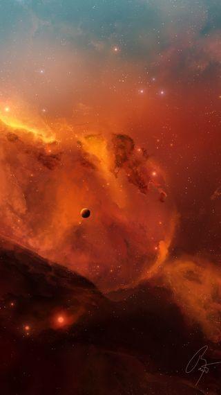 Обои на телефон планета, ночь, небо, звезды, звезда, галактика, galaxy