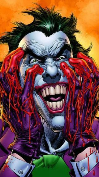 Обои на телефон хаха, куинн, кровь, комиксы, джокер, бэтмен, riddlwe, marel, dc