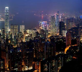 Обои на телефон harbor, hong kong, skyline, skyline hd, горизонт, здания, китай, конг, азия
