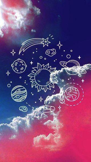 Обои на телефон цветные, формы, фиолетовые, космос, tumblr, space shapes, shape space, cores