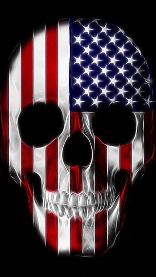 Обои на телефон череп, цветные, флаг, арт, американские, абстрактные, us, art, americano