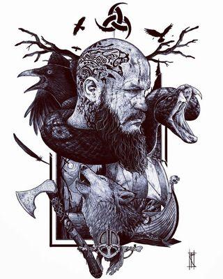 Обои на телефон змея, тв, рагнар, легенда, король, ворона, викинги, travisfimmel, lothbrok, earl